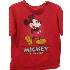 Disney Size 4 TShirt Red Mickey Mouse Boys Kids